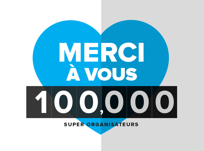 100 000 organisateurs, ça se fête!