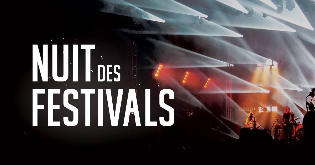 Nuit des Festivals 2018 : Weezevent vous donne rendez-vous à la cérémonie officielle des Festivals Awards!