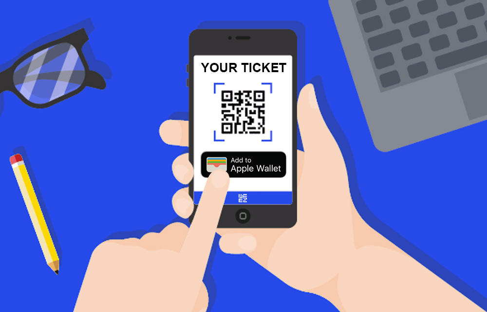 Your attendees' tickets directly saved on their Apple Wallet!
