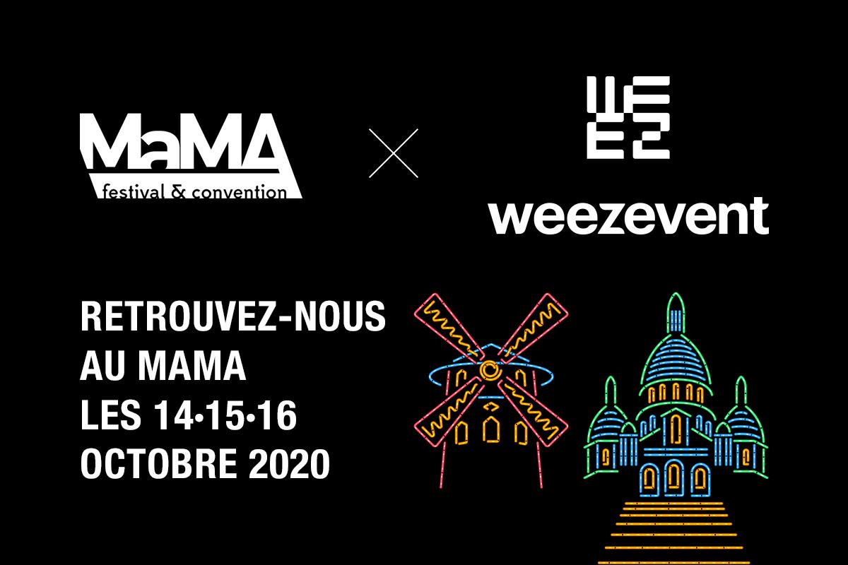 Weezevent vous donne RDV au MaMA 2020 !