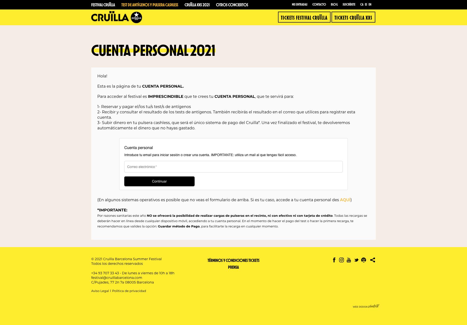 Cruilla Step 1 - ES