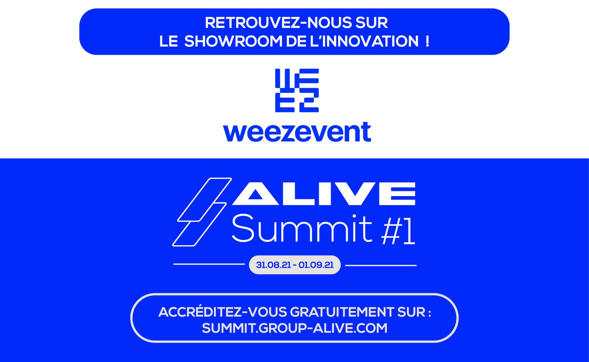 Weezevent vous donne RDV au Alive Summit #1